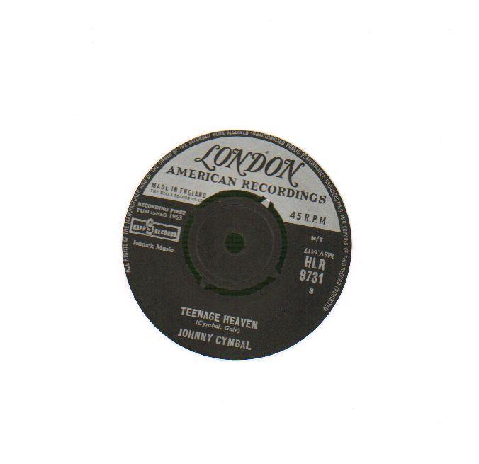 Johnny-Cymball-7-Vinyl-1st-Issue-Teenage-Heaven-Cinderella-Baby-Lon-Ex-VG